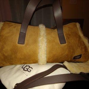 UGG leather with sheepskin lining satchel